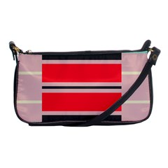 Rectangles In Retro Colors  shoulder Clutch Bag by LalyLauraFLM
