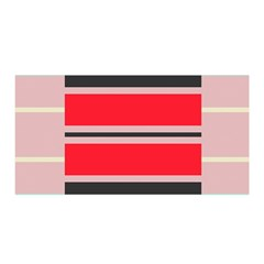 Rectangles in retro colors  Satin Wrap by LalyLauraFLM
