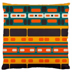 Rectangles In Retro Colors Texture large Flano Cushion Case (two Sides) by LalyLauraFLM