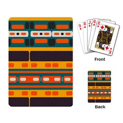 Rectangles In Retro Colors Texture playing Cards Single Design by LalyLauraFLM