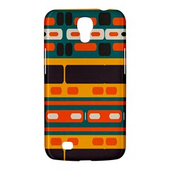 Rectangles In Retro Colors Texture 			samsung Galaxy Mega 6 3  I9200 Hardshell Case by LalyLauraFLM