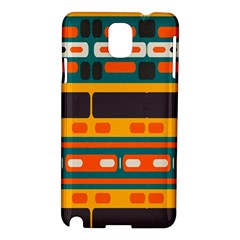 Rectangles In Retro Colors Texture samsung Galaxy Note 3 N9005 Hardshell Case by LalyLauraFLM