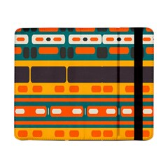 Rectangles In Retro Colors Texture samsung Galaxy Tab Pro 8 4  Flip Case by LalyLauraFLM