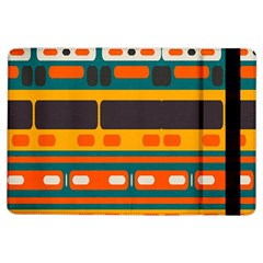 Rectangles In Retro Colors Texture 			apple Ipad Air Flip Case by LalyLauraFLM