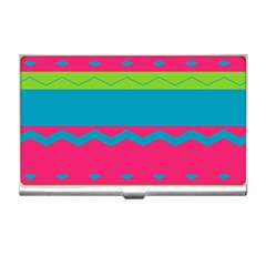 Chevrons And Stripes  			business Card Holder by LalyLauraFLM