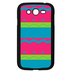 Chevrons And Stripes  samsung Galaxy Grand Duos I9082 Case (black) by LalyLauraFLM