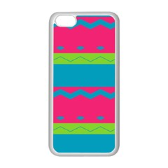 Chevrons And Stripes  			apple Iphone 5c Seamless Case (white) by LalyLauraFLM