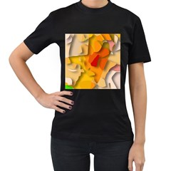 Red Spot Women s T Shirt (black) (two Sided)