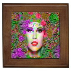 Flowers In Your Hair Framed Tiles by icarusismartdesigns