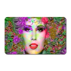 Flowers In Your Hair Magnet (rectangular) by icarusismartdesigns