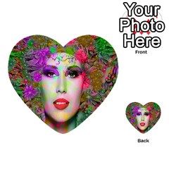 Flowers In Your Hair Multi Purpose Cards (heart)  by icarusismartdesigns