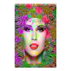 Flowers In Your Hair Shower Curtain 48  X 72  (small)  by icarusismartdesigns