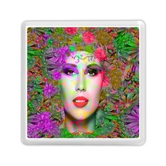 Flowers In Your Hair Memory Card Reader (square)  by icarusismartdesigns