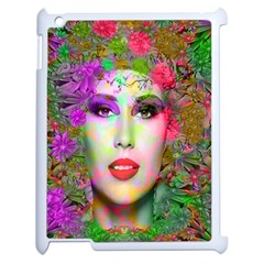 Flowers In Your Hair Apple Ipad 2 Case (white) by icarusismartdesigns