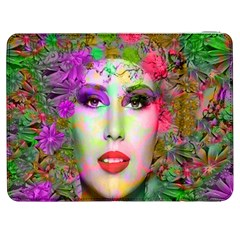 Flowers In Your Hair Samsung Galaxy Tab 7  P1000 Flip Case by icarusismartdesigns