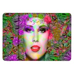 Flowers In Your Hair Samsung Galaxy Tab 8 9  P7300 Flip Case by icarusismartdesigns