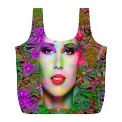 Flowers In Your Hair Full Print Recycle Bags (l)  by icarusismartdesigns