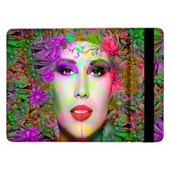 Flowers In Your Hair Samsung Galaxy Tab Pro 12 2  Flip Case by icarusismartdesigns