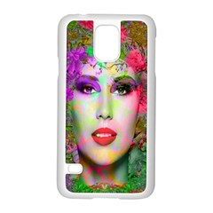 Flowers In Your Hair Samsung Galaxy S5 Case (white) by icarusismartdesigns