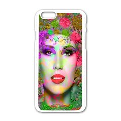 Flowers In Your Hair Apple Iphone 6/6s White Enamel Case by icarusismartdesigns