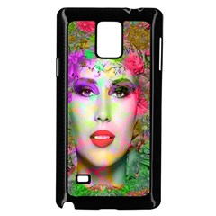 Flowers In Your Hair Samsung Galaxy Note 4 Case (Black) by icarusismartdesigns