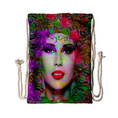 Flowers In Your Hair Drawstring Bag (small) by icarusismartdesigns