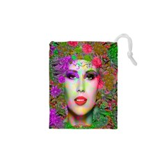 Flowers In Your Hair Drawstring Pouches (xs)  by icarusismartdesigns