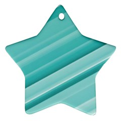 Teal And White Fun Ornament (star)  by timelessartoncanvas