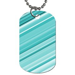 Teal And White Fun Dog Tag (two Sides) by timelessartoncanvas