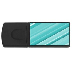 Teal And White Fun Usb Flash Drive Rectangular (4 Gb)  by timelessartoncanvas