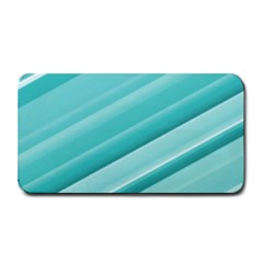 Teal And White Fun Medium Bar Mats by timelessartoncanvas