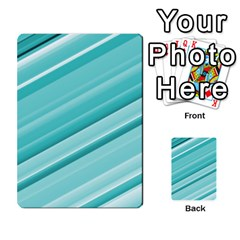 Teal And White Fun Multi Purpose Cards (rectangle)