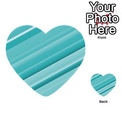 Teal And White Fun Multi Purpose Cards (heart)  by timelessartoncanvas