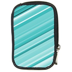 Teal And White Fun Compact Camera Cases by timelessartoncanvas
