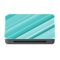 Teal And White Fun Memory Card Reader With Cf by timelessartoncanvas