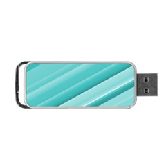 Teal And White Fun Portable Usb Flash (two Sides) by timelessartoncanvas