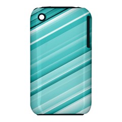 Teal And White Fun Apple Iphone 3g/3gs Hardshell Case (pc+silicone) by timelessartoncanvas