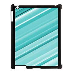 Teal And White Fun Apple Ipad 3/4 Case (black) by timelessartoncanvas
