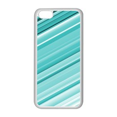 Teal And White Fun Apple Iphone 5c Seamless Case (white) by timelessartoncanvas