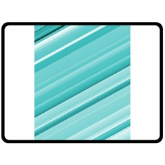 Teal And White Fun Double Sided Fleece Blanket (large)  by timelessartoncanvas