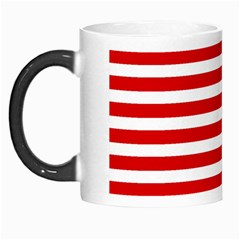 Red And White Stripes Morph Mugs by timelessartoncanvas