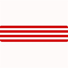 Red And White Stripes Large Bar Mats by timelessartoncanvas