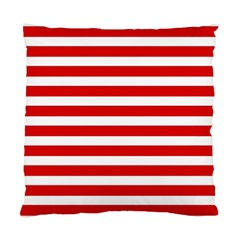 Red And White Stripes Standard Cushion Case (one Side)  by timelessartoncanvas
