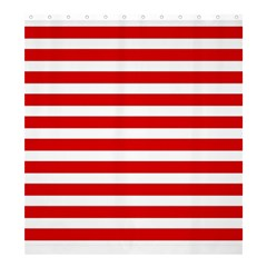 Red And White Stripes Shower Curtain 66  X 72  (large)  by timelessartoncanvas
