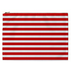Red And White Stripes Cosmetic Bag (xxl)  by timelessartoncanvas