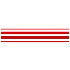 Red And White Stripes Flano Scarf (small) by timelessartoncanvas