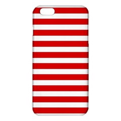 Red And White Stripes Iphone 6 Plus/6s Plus Tpu Case by timelessartoncanvas