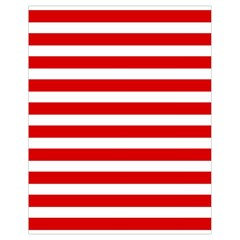 Red And White Stripes Drawstring Bag (small) by timelessartoncanvas