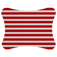 Red And White Stripes Jigsaw Puzzle Photo Stand (bow) by timelessartoncanvas