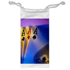 Poker Card Player Aces and Joker Jewelry Bag by DesignMonaco